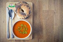 Tomato Soup & Bagel