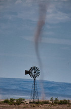 dust devil and a windmill