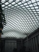Atrium walls and ceiling.