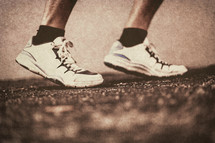 shoes of a runner