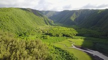 green mountains and valley