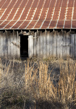 rusty roof on an old barn