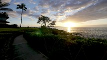 time-lapse of Maui shore at sunset