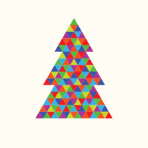 poly colorful Christmas tree