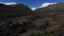 drone shot over Montana landscape