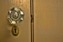 """Vintage door knob and key hole . """"Behold, I stand at the door..."""""""