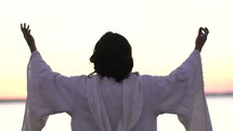 Jesus with raised hands