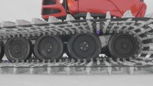 treads of a snow plow