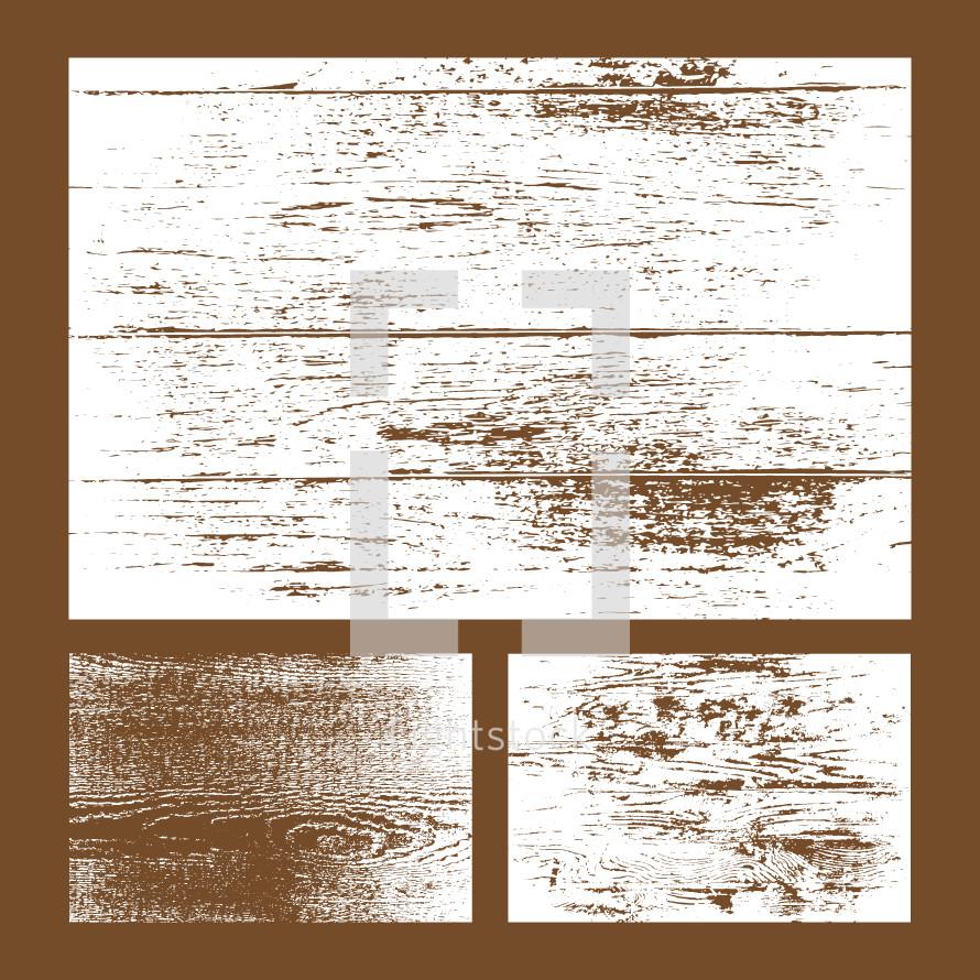 Vector wood textures.
