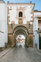 Arch of concepcion in Alcantara, Caceres