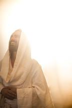 glowing light surrounding Christ