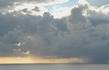Cloudy sky over ocean