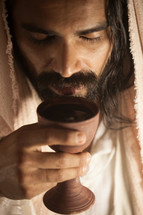 Jesus with a communion chalice