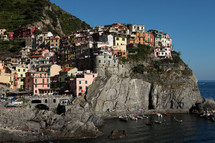 Seaside village houses in Italy