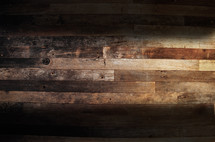wooden boards form the floor in an ancient warehouse