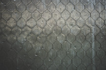 a screen and chicken wire