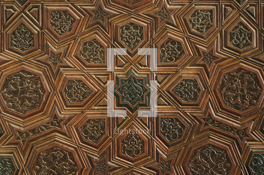 wood carving detail background