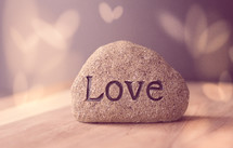 word love on a stone