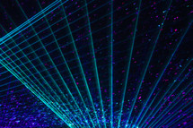 Abstract light beam and laser backgrounds with cascade of bubbles