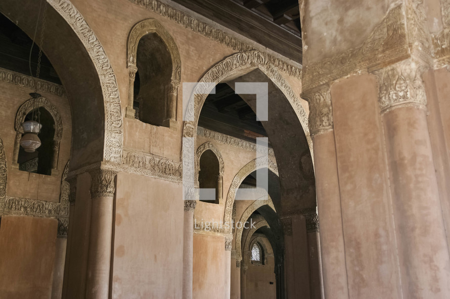 interior of a mosque in Egypt