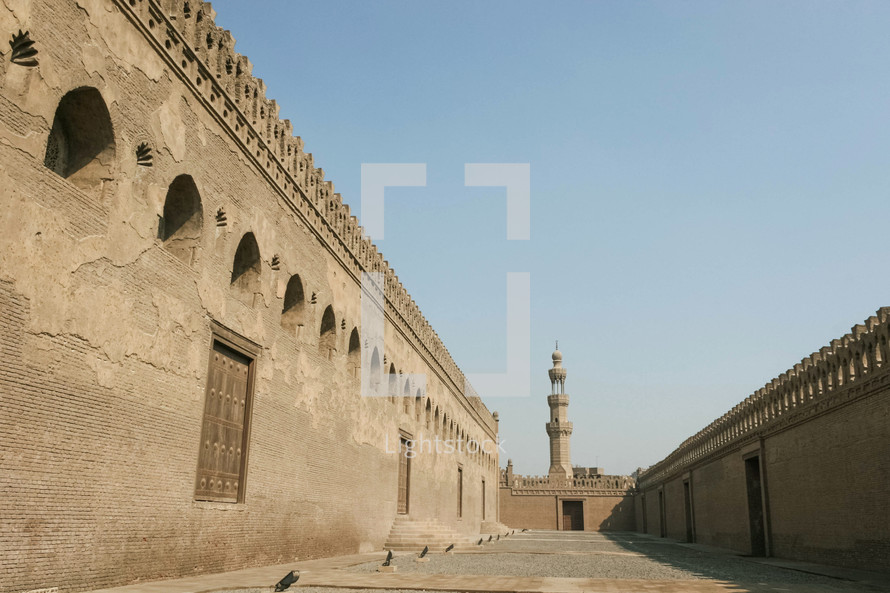 courtyard of a mosque in Egypt