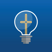 cross in a lightbulb