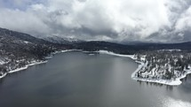 Aerial view over Bass Lake