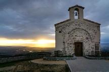stone chapel on a mountaintop