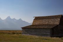 barn barn and mountain view