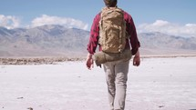 trekking through the desert