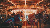 carousel ride at an amusement park