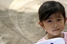 little girl in Vietnam