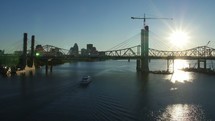 Louisville bridge over river