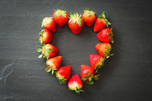 strawberries in the shape of a heart
