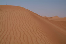 ripples in a sand dune in the Desert