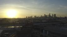 drone over LA