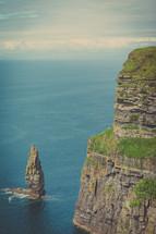 steep sea cliffs