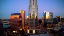 cityscape time-lapse
