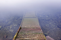 dock going into lake water