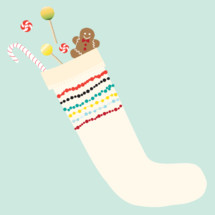 Christmas stocking, holidays, Christmas, gingerbread man, candy, candy cane