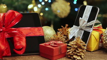 electronic gifts under the Christmas tree