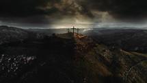three cross on mount Calvary