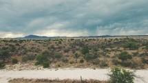 Desert Aerial Cinematic Shot