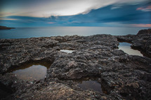 tide pools on a rocky shore