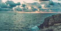 sailing near the shore