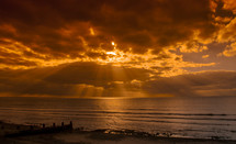 Tywyn Beach Sunset