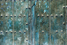 Strong old metal door
