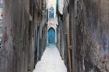 narrow passageway
