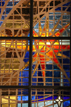 Stained glass window of Bethlehem star