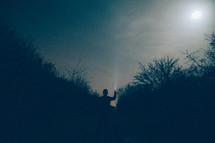 Lighting up the sky